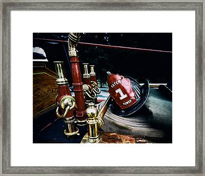 Antique Firefighter's Gear Framed Print by Mountain Dreams