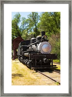 Antique Locomotive Framed Print by Jane Rix
