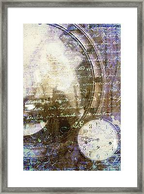 Antique Mirror And Clock Framed Print by Suzanne Powers