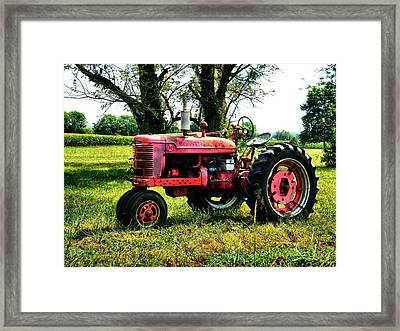 Antique Tractor  Framed Print