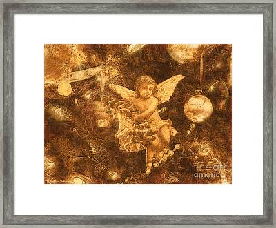 Framed Print featuring the photograph Antiqued Angel Gold by Roxy Riou