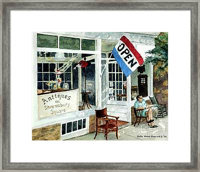 Antiques On Shrewsbury Square Framed Print