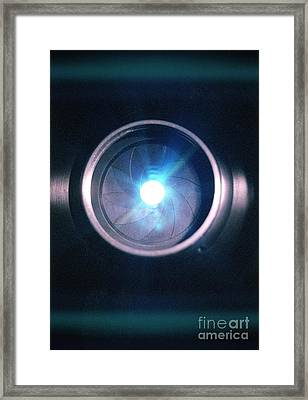 Aperture Flare Framed Print by Richard Kail