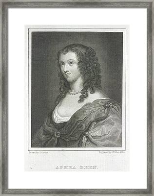 Aphra Behn Framed Print