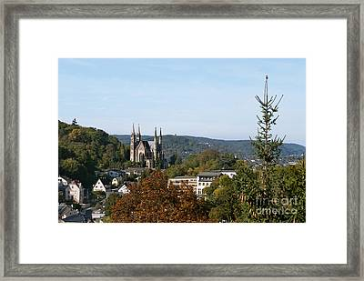 Apollinaris Church In Remagen Germany Framed Print