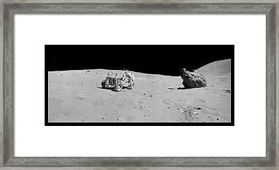 Apollo 16 Lunar Rover Framed Print by Nasa/detlev Van Ravenswaay