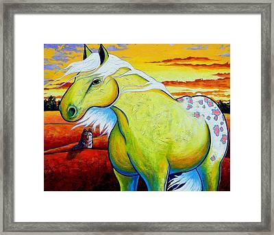 Appaloosa Dawn Framed Print by Joe  Triano
