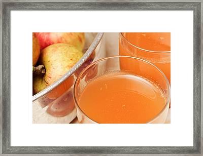 Apple Juice Framed Print by Tom Gowanlock