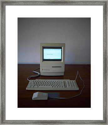 Apple Macintosh Classic Desktop Pc Framed Print by Panoramic Images