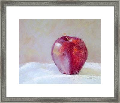 Apple Framed Print by Nancy Stutes