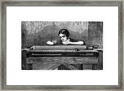 Applying Fabric Patterns Framed Print by Science Photo Library