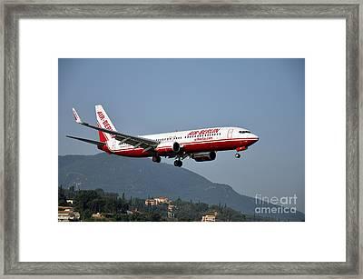 Approaching Corfu Airport Framed Print