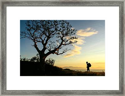 Approaching Summit Framed Print
