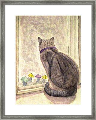 April Showers Framed Print by Angela Davies