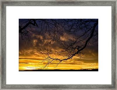 April Sunrise Drama Framed Print by Thomas R Fletcher