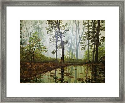Aqua Framed Print by Carol Bitz