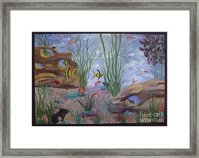 Aquarium Framed Print by Debra Piro