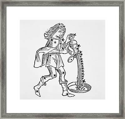 Aquarius Framed Print by Italian School