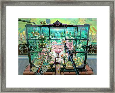 Framed Print featuring the drawing Aquatic Castle by Michael Young