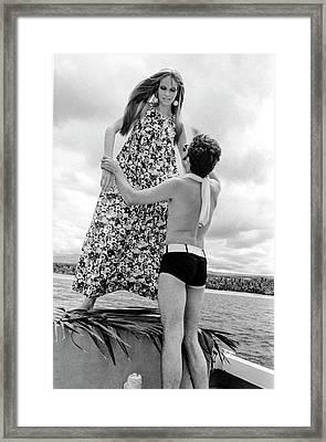 Ara Gallant And Veruschka Framed Print