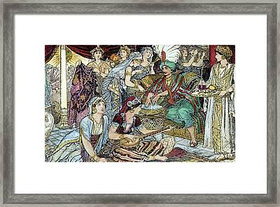 Arabian Nights Harem Framed Print