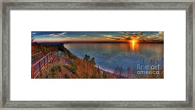 Arcadia Sunset Framed Print by Twenty Two North Photography