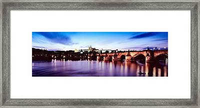 Arch Bridge Across A River Framed Print by Panoramic Images
