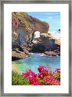 Arch Rock Laguna Framed Print