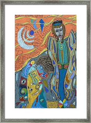 Framed Print featuring the mixed media Archangel Uriel by Clarity Artists