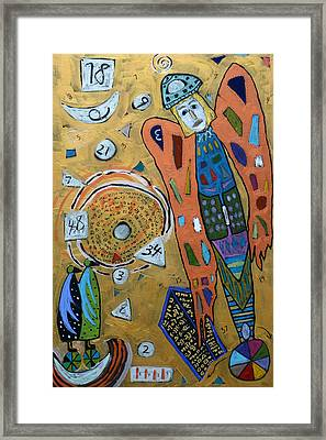 Framed Print featuring the mixed media Archangel Zadkiel by Clarity Artists