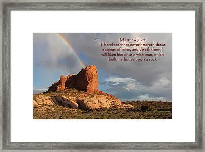 Arches Mat 7-24 Framed Print