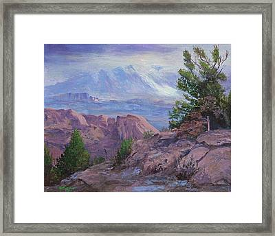Arches View Point Framed Print by Bev Finger
