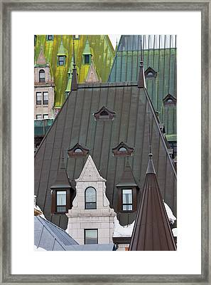 Architectural Details Of Chateau Framed Print