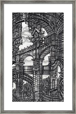 Architectural Utopia 5 Fragment Framed Print