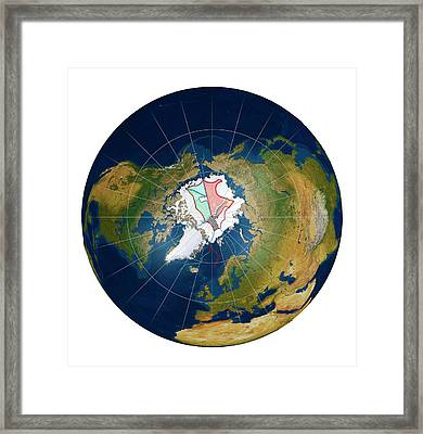 Arctic Land Claims Framed Print by Mikkel Juul Jensen