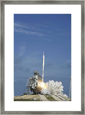 Ares I-x Test Rocket Launch Framed Print by Science Photo Library