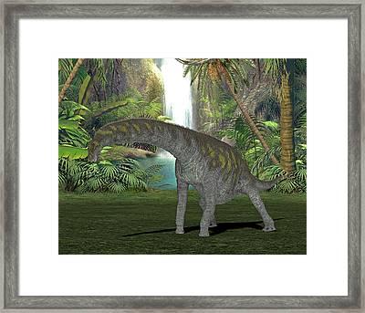 Argentinosaurus Dinosaur Framed Print by Friedrich Saurer