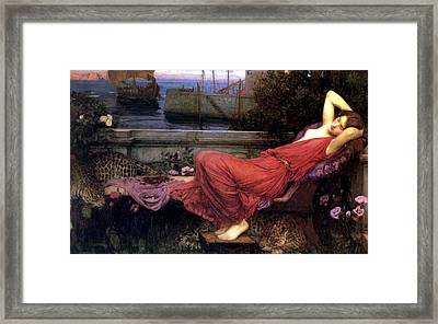 Ariadne Framed Print by John William Waterhouse