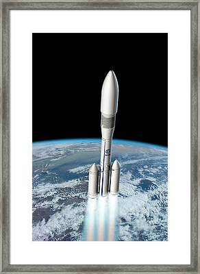 Ariane 6 Rocket Launch Framed Print by European Space Agency/d. Ducros