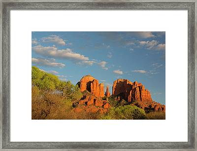Arizona, Sedona, Crescent Moon Framed Print
