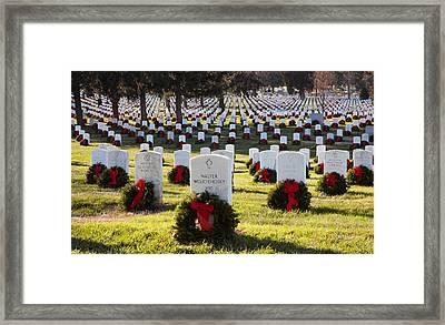 Arlington Cemetery Wreaths Framed Print