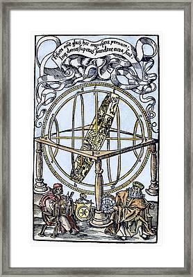 Armillary Sphere, 1514 Framed Print