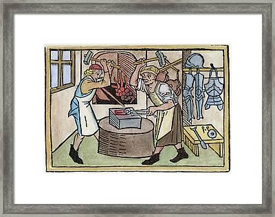 Armor Smith, 1479 Framed Print