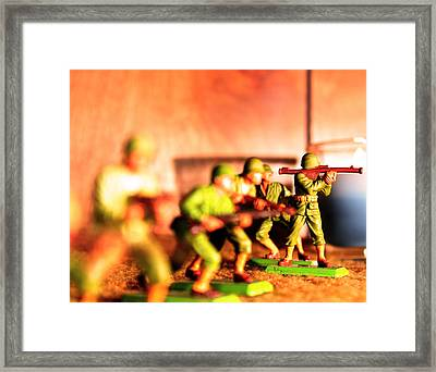 Army Men  Framed Print by Jon Baldwin  Art