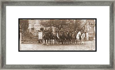 Army Officers On Horseback, Likely Framed Print by Fred Schutz Collection