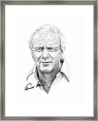 Arnold Palmer Framed Print by Murphy Elliott