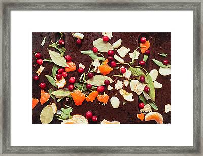 Aromatic Ingredients Framed Print by Tom Gowanlock