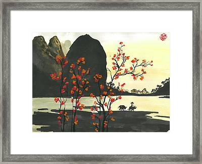 Arrival Of Spring Framed Print by Amberlyn How
