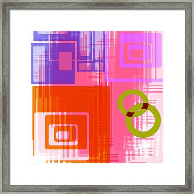 Art Deco Style Digital Art Framed Print by Susan Leggett