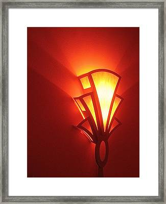 Framed Print featuring the photograph Art Deco Theater Light by David Lee Guss
